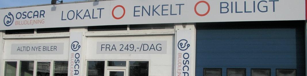 Facaden af Oscar Biludlejning Brøndby