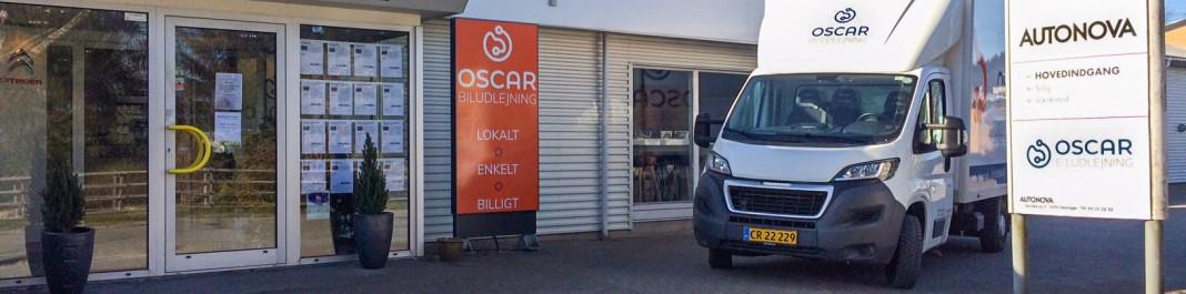 Facaden af Oscar Biludlejning Helsingør