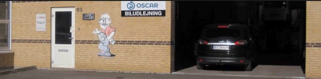 Facaden af Oscar Biludlejning Brønderslev